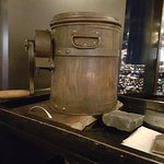 Butter churn from which butter is served