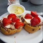 beautiful mini choc tea for one with added strawberries