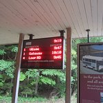 Bus timings at the visitors center