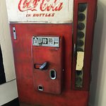 Cool old Coke machine on the premises.