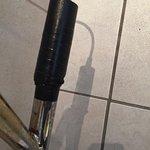 Taped up radiator pipe