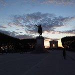 La Promenade de Peyrou al tramonto