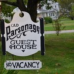 The sign outside The Old Parsonage