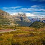 The view back towards Logan Pass and you descend the boardwalk