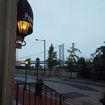 Outside the hotel looking towards Ben Franklin Bridge
