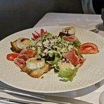 Entrée : Salade de chèvre chaud