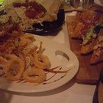 Kim Chee Calamari, Coconut Crunchy Shrimp, Wicked Tuna