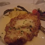 Paneed Chicken romano panko crusted, citrus butter