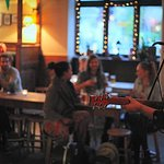 Open Mic once a month, as well as other live music and DJ's weekly!