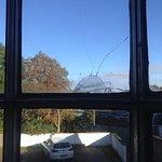 Cello taped window pane