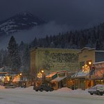Winter view of Rossland Town