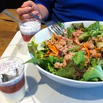 salmon salad and dessert