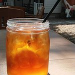 Sweet tea in a fruit jar