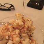 Salted caramel pretzel ice cream, topped with caramel popcorn - fabulous!