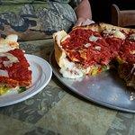 Gluten-free crust, half Moosha and half traditonal. Great crust for gluten-free. Hubby ordered t