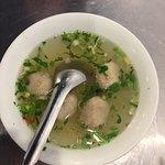 Taiwanese style meatball soup.