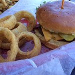 Onion rings with village burger