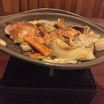 夕食 焼き物(秋鮭チャンチャン焼)