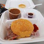 Sliced Pit Beef sandwich