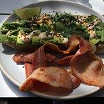 Miso avocado with a bacon side
