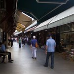 walking through Arasta Bazaar, right up the street
