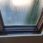 Condensation on the window just from us sleeping overnight.