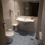 updated bathroom in the triple room