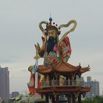 This statue can been seen from the entrance of the attraction, at the Pagoda area.