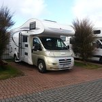 Our motorhome on site