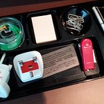 Office supplies in the desk drawer!