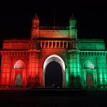 The Gateway of India image of Independence day night