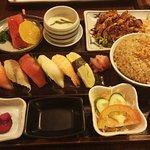 set of chicken terayaki and garlic fried rice