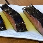 Salmón marinado con alga nori - La Simfonia (Girona)