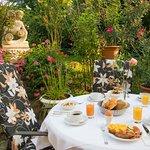 Enjoy your breakfast in our garden!