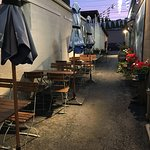 Rheinblick - tables outside in alley