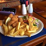Scampi and chips think is was £10.95