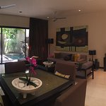 Living and dinning area on 1 bedroom townhouse