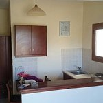 Small, basic and adequate kitchenette