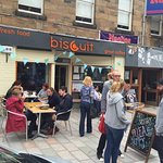 Biscuit Cafe - Great seating inside or out on south facing wide pavement.