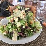 Chicken Caesar Salad in Filo Pastry Bowl