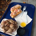 Lobster rolls and steamers