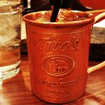 the Moscow Mule in copper cup