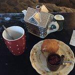 Tea and scone at Kerrera Tea Garden