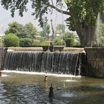 Cascading water falls and basins at Shalimar Bagh.