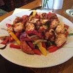 Chicken and Chorizo salad, yummy..!!!