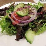 My lovely fresh Greek Salad starter at Ya Ya's (09/Oct/16).