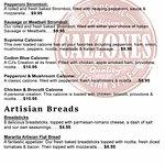 Stromboli & Calzones Menu