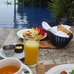 Breakfast by the pool...amazing