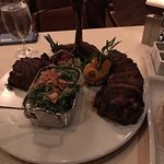 Porterhouse for 2 & Creamed spinach