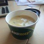Full price for not so full bowl of soup